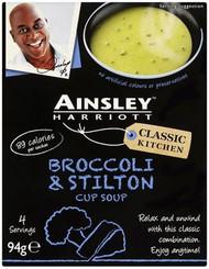 Ainsley Harriott Cup Soup 3 Sachet Pack - Broccoli & Stilton