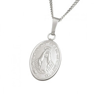 Small Miraculous Medal With Chain