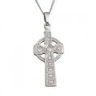 Large Celtic Cross Pendant And Chain