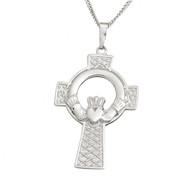 Claddagh Celtic Cross Pendant on a chain
