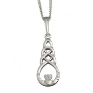 Claddagh Celtic Knot Pendant With Chain