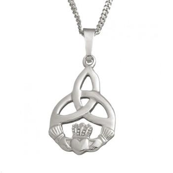 Small Claddagh Trinity With Chain