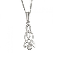 Celtic Drop Pendant With Chain