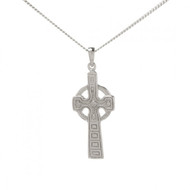 Celtic Double Sided Cross And Chain