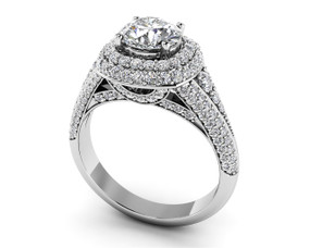 Elegant Split Shank Diamond Engagement Ring Style BDMS137-A