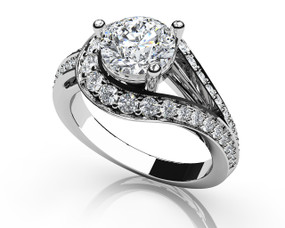 Whirl Wind Engagement Ring Style BDMS217-A