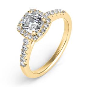 Halo Diamond Engagement Ring EN7487