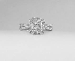 Halo Diamond Engagement Ring EN7653