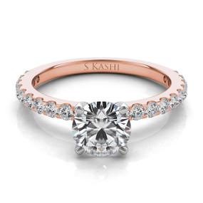 Solitaire Diamond Engagement Ring EN7581
