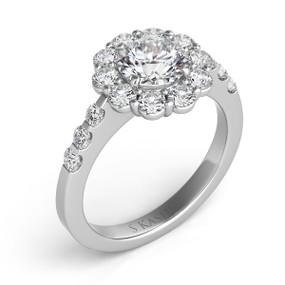 ROUND HALO DIAMOND ENGAGEMENT RING EN7072