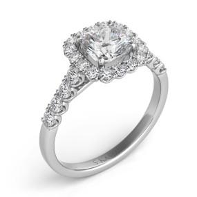 PRINCESS HALO DIAMOND ENGAGEMENT RING EN7168