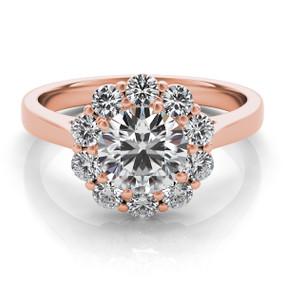 ROUND HALO DIAMOND ENGAGEMENT RING EN7376