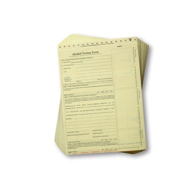 Non-DOT Breath Alcohol Testing Forms - Intoxilyzer 8000