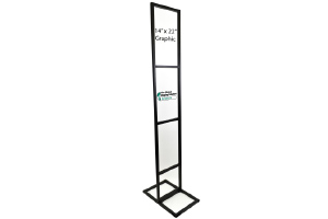 Three-Tier Poster Stand Display - Black - 14