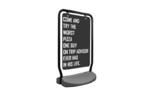The Swing Outdoor Sign Holder