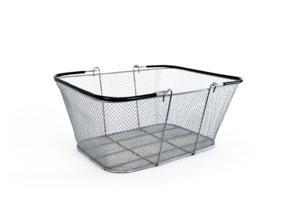 Silver Mesh Wire Basket