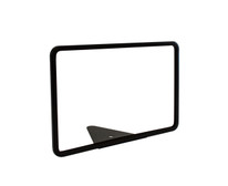 "Wedge Base Metal Sign Holder - Black - 11""w x 7""h"