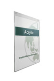 "Acrylic Wall Mount Sign Holder - 8.5""w x 11""h 5/Pack"