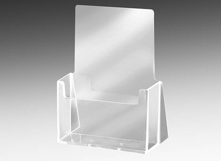 Acrylic collateral and brochure holder for 8.5  x 11 sized materials