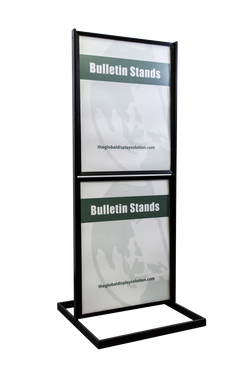 "Two-Tier Poster Stand Display - Black - 22""w x 28""h"
