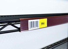 Metro Shelf Ticket Holder - Protective Clear Cover - Burgandy
