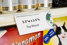 "Shelf edge sign holder - Top Mount -  5.5""w x 2.5""h"