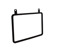 "Hanging Metal Sign Frame - Black Finish - Displays 11""w x 7""h Sign"