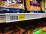 Price tag molding for Dairy Freezer shelves - Fits Hussman cooler shelves