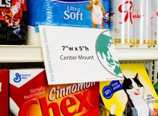 """Shelf Edge Sign Holder - Center Mount - 7""""w x 5""""h 25/Pack"""