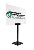 Pedestal Table top Sign Holder - Includes acrylic sign holder