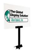 Diagonal Produce Bin Metal Sign holder - W/ Acrylic Sign Display