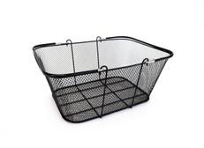 "Black Mesh Wire Basket 16""w x 12"" H x 6.5"" D  10/Pack"