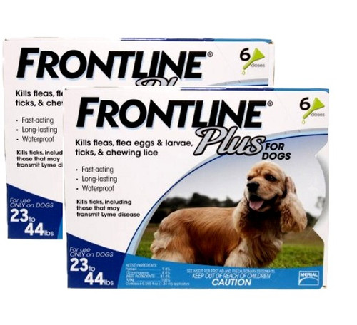 Frontline Plus for Medium Dogs 23-44lbs - 12 Pack