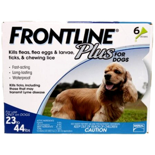 Frontline Plus for Medium Dogs 23-44lbs - 6 Pack