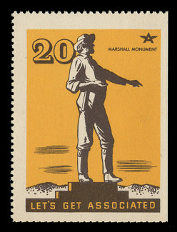 Associated Oil Company Poster Stamps of 1938-9 - # 20, Marshall Monument