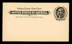 U.S. Scott # UX  14, 1897 1c Thomas Jefferson, black on buff - Mint Postal Card