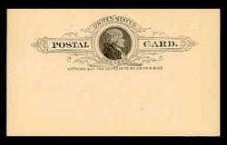 U.S. Scott # UX   9, 1886 1c Thomas Jefferson, black on buff - Mint Postal Card