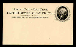 U.S. Scott # UX  15, 1898 1c John Adams, black on buff - Mint Postal Card