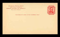 U.S. Scott # UX  25T2, 1911 2c Ulysses S, Grant, red on buff, Type 2 - Mint Postal Card (See Warranty)