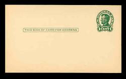 U.S. Scott # UX  28/UPSS # S40-2B, 1917 1c Abraham Lincoln, Head 2, green on buff - Mint Postal Card (See Warranty)