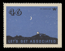 Associated Oil Company Poster Stamps of 1938-9 - # 46 Lick Observatory