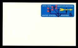 U.S. Scott # UX  57, 1970 5c Weather Services, 100th Anniversary - Mint Postal Card
