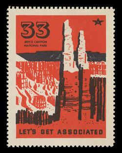 Associated Oil Company Poster Stamps of 1938-9 - # 33, Bryce Canyon National Park