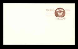 U.S. Scott # UX  58, 1971 6c Paul Revere - Patriot Series - Mint Postal Card