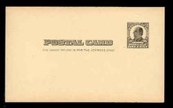 U.S. Scott # UX  19, 1907 1c William McKinley, Square Design, black on buff - Mint Postal Card