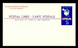 U.S. Scott # UX  49, 1963 7c Map of the United States - Mint Postal Card