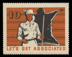 Associated Oil Company Poster Stamps of 1938-9 - # 10, The Fur Trader