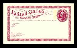 U.S. Scott # UX  65, 1973 6c Liberty Head - Centenary of the First U.S. Postal Card - Mint Postal Card