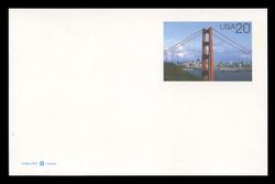 U.S. Scott # UX 282, 1997 20c Golden Gate Bridge in Daylight - Mint Postal Card