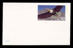U.S. Scott # UX 219A, 1995 50c Eagle for International Rate - Mint Postal Card, DULL PAPER